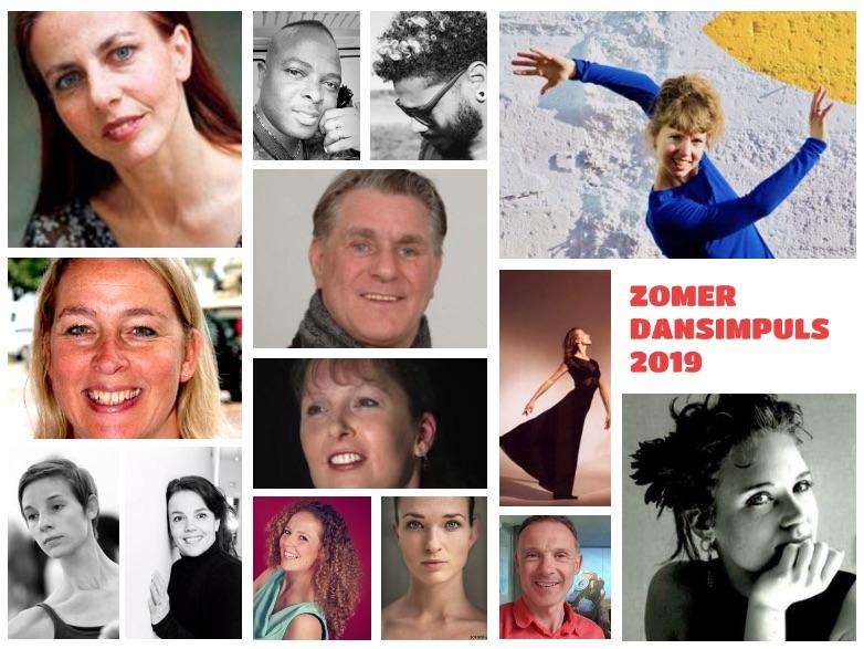 De leden van de workshop dansimpuls 2019 in een collage